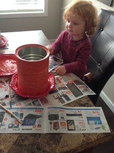 My youngest painting over my doings.