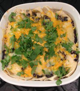 Black Bean Chicken Enchiladas