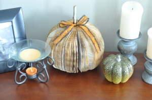 Rustic Book Pumpkin